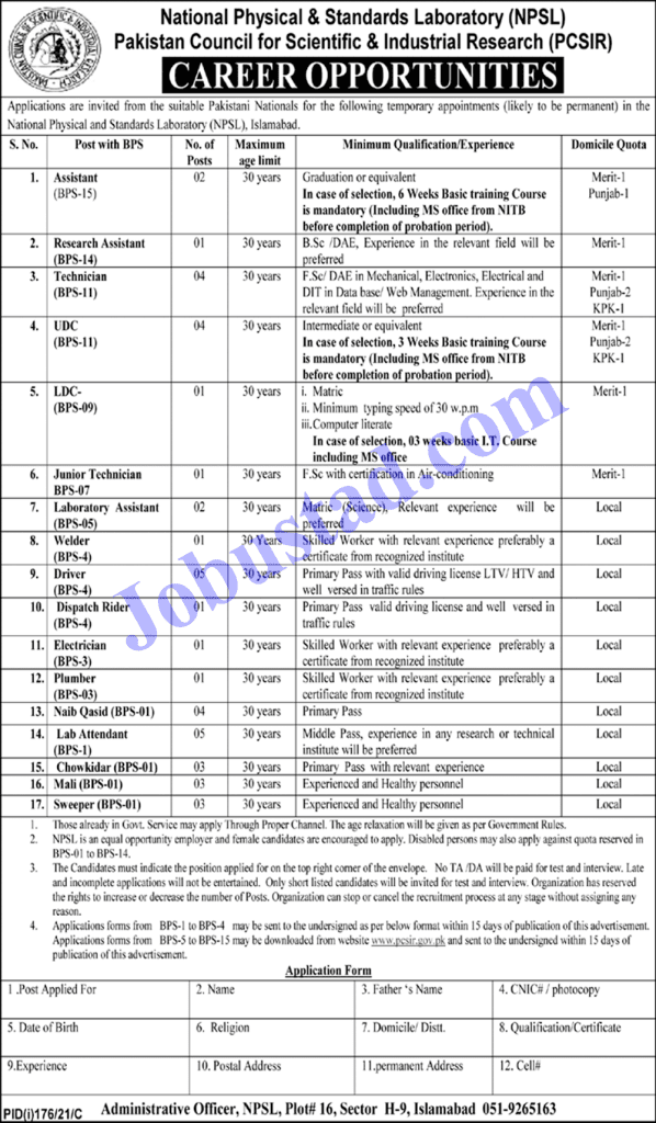 Pakistan Council Of Scientific & Industrial Research Jobs 2021 || PCSIR Jobs 2021