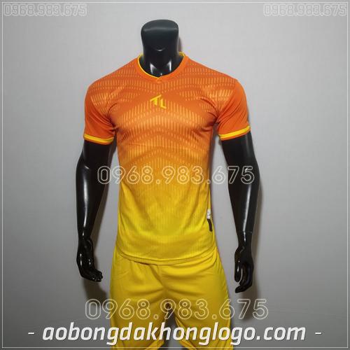 Áo bóng đá ko logo Rius nàu cam