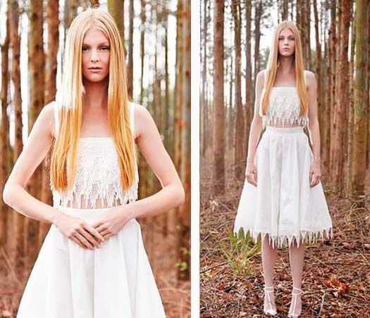 Vestido algodão orgânico para noivas