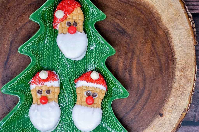 Santa Claus Nutter Butter Cookies
