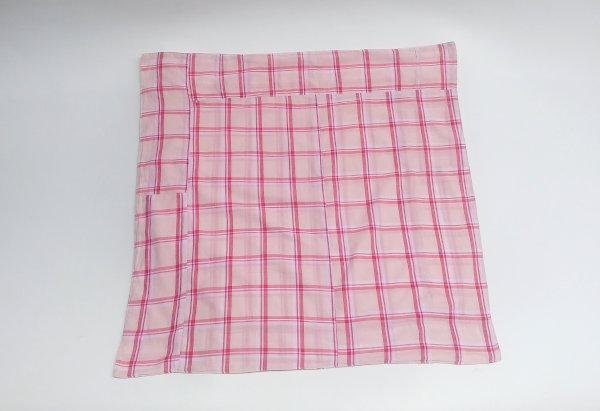 Furoshiki porta marmita tecido xadrez