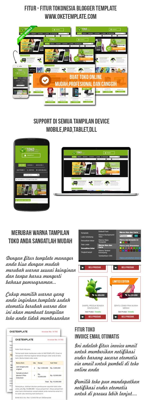 template toko online blogspot responsive tokonesia, Invoice examples