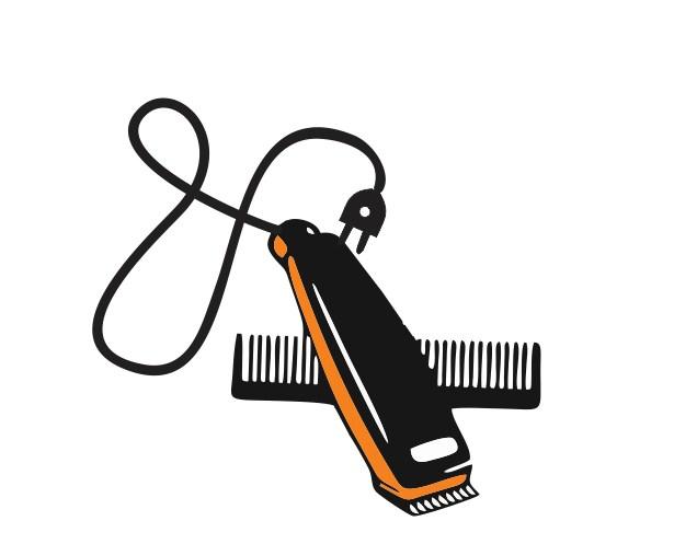 graphic design logo creation cuting heir