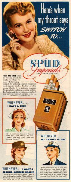 Anuncio vintage con mujeres bonitas de marca de cigarros