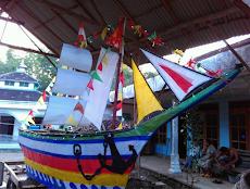Kreasi Miniatur Kapal Pada Acara Takbir Keliling Terunik