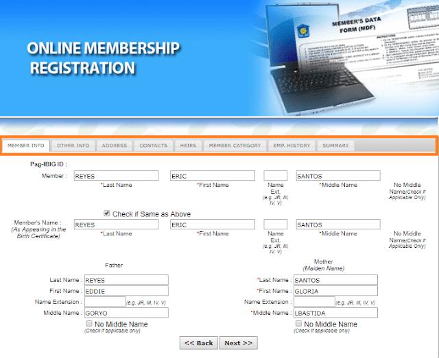 pagibig online registration form