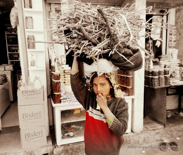 A girl in the Markets of Khatu Shyamji Temple in Rajasthan