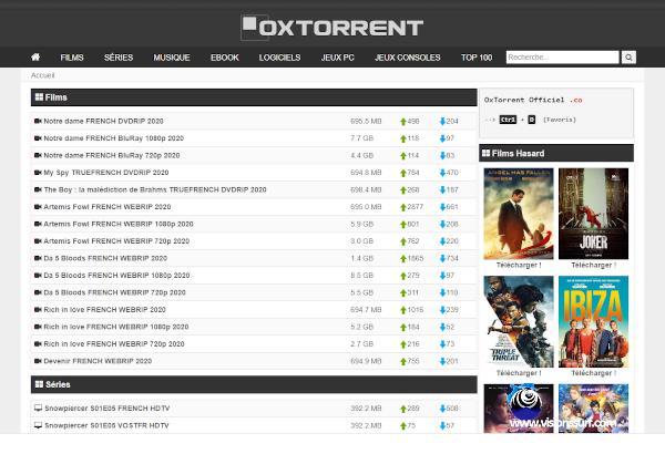 oxtorrent nouvelle adresse 2020