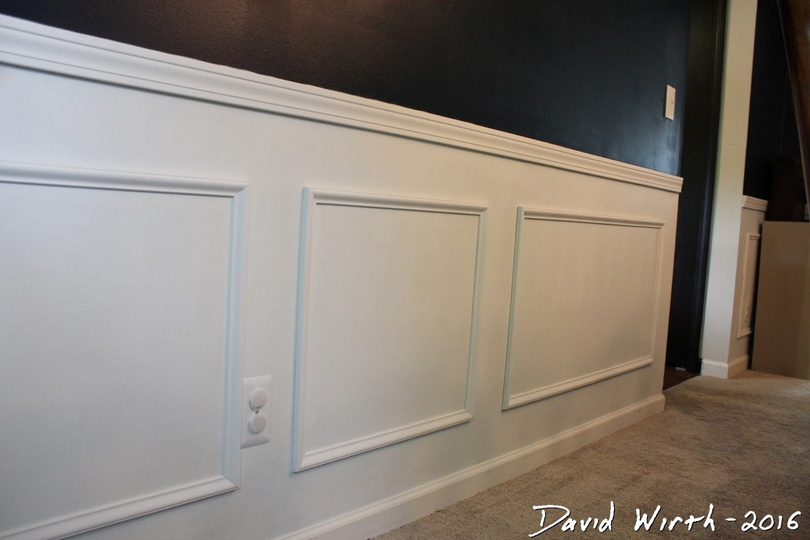 How To Put Chair Rail Molding Grey Leather Dining Chairs Wall Trim And - Easy Room Remodel
