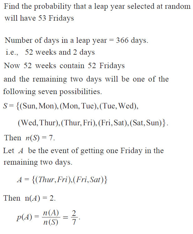 OMTEX CLASSES: Find The Probability That A Leap Year