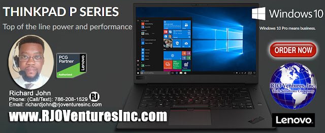 ThinkPad P Series Family, Available at RJO Ventures, Inc., Authorized Lenovo Reseller Partner. (#RJOVenturesInc)    Phone: Call/Text: 786-208-1529