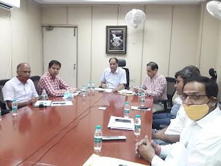 Marathon meeting in the Transport Department regarding the preparations for REET Exam 2021 RTO jaipur mahendra soni pratap khachariyawas