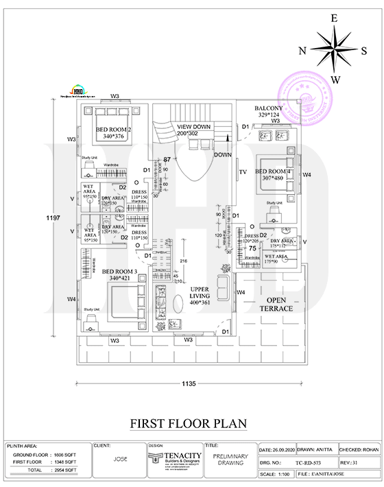 2d first floor plan drawing