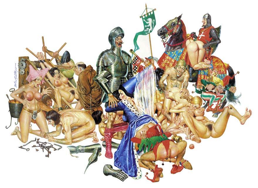La vida sexual en el medioevo representada en una ilustración erótica