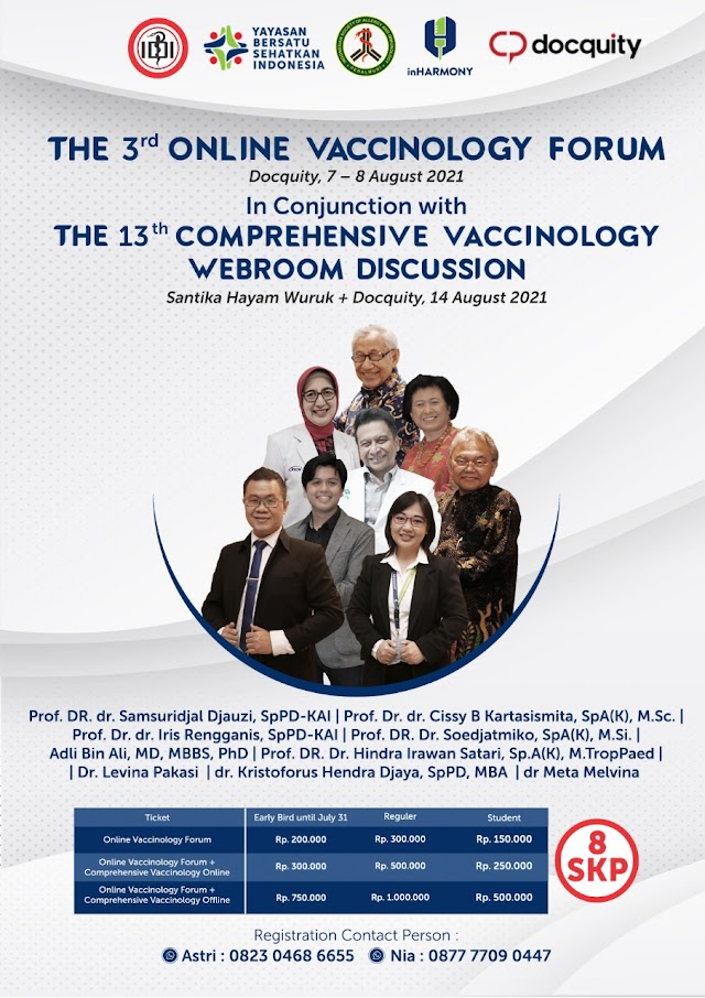 (8 SKP IDI) *FINAL ANNOUNCEMENT of the MOST COMPREHENSIVE VACCINOLOGY FORUM in 2021!*