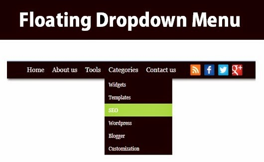Add floating dropdown menu to blogger