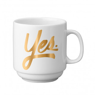 Easy Tiger Co. Yes Gold Stackable Mug at Swank Boutique