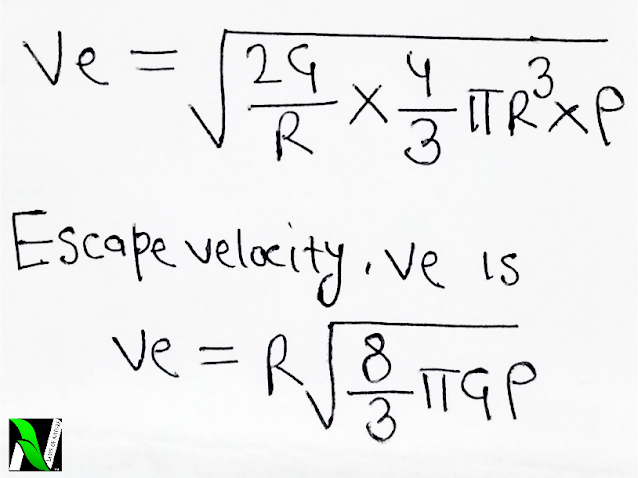 What is escape velocity? Derivation for escape velocity.