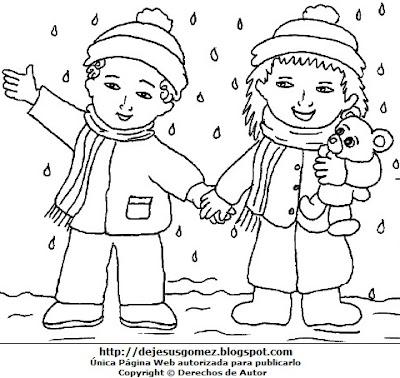 Dibujos Fotos Acrostico Y Mas Dibujo De Invierno Para Colorear