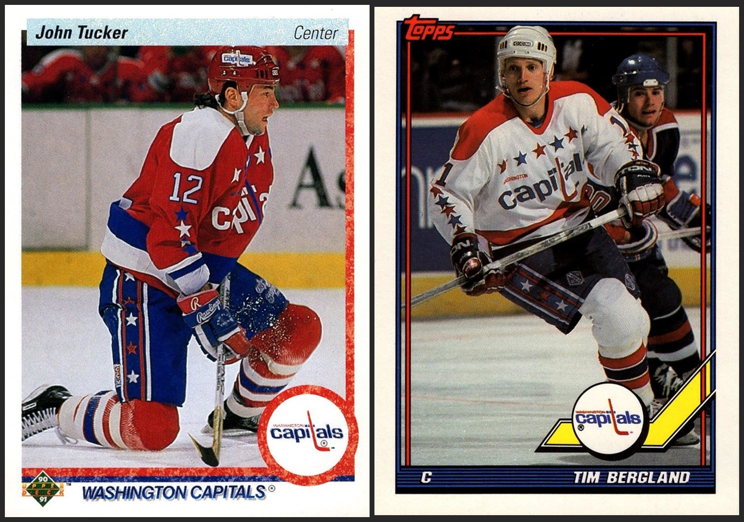dde6d22a081 Washington Capitals - 2 cards 1990-91 Upper Deck  387 1991-92 Topps  34
