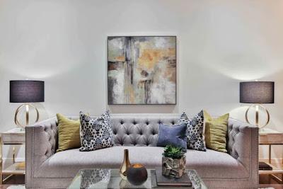 Modern living room - pastel colors