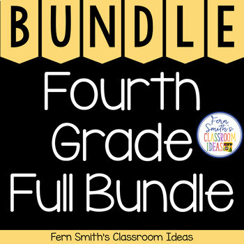 4th Grade Go Math Year Long Center Games and Task Cards Bundle