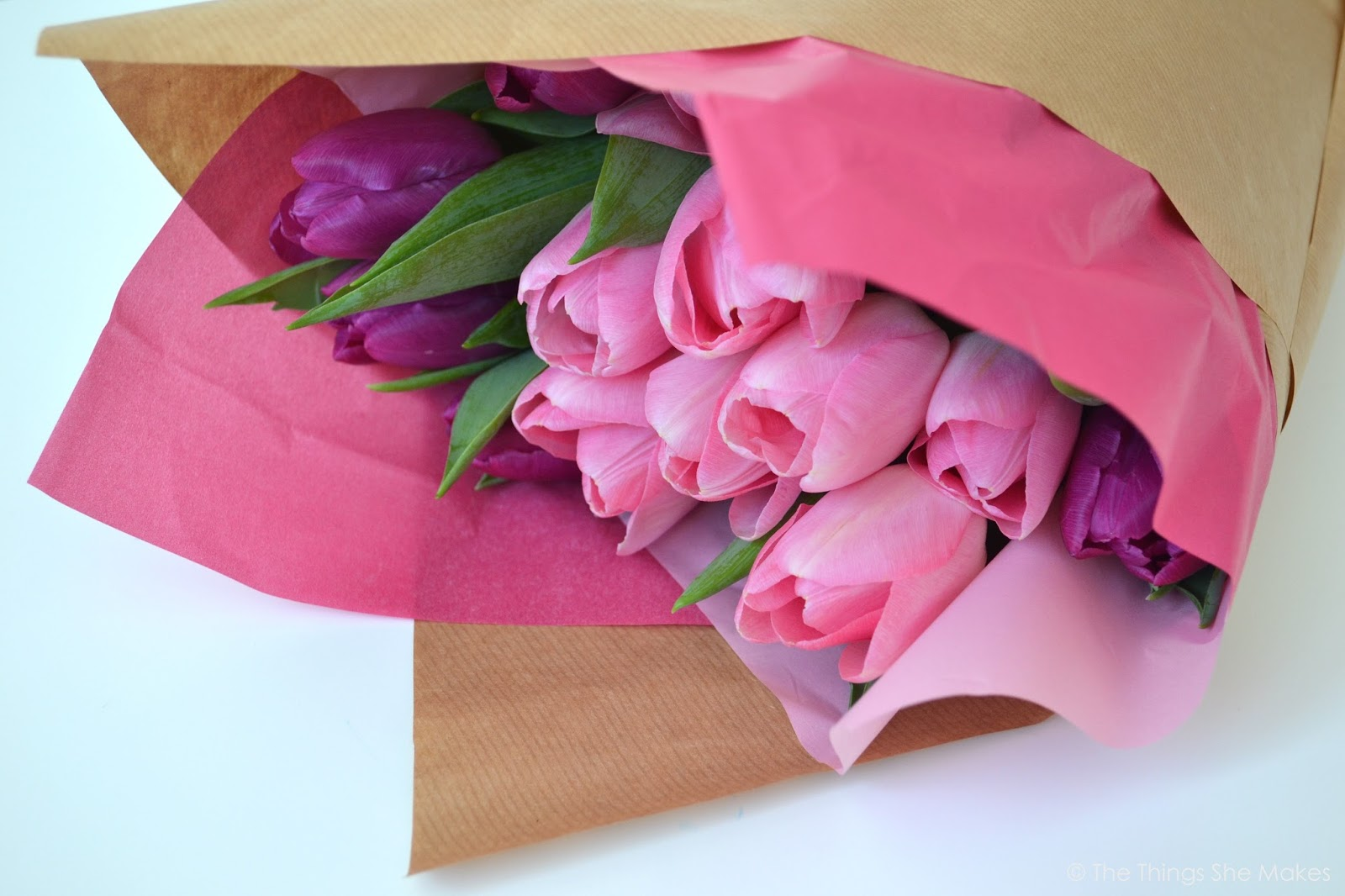 How to Wrap a Flower Bouquet | The Things She Makes