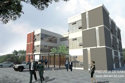 Desain Exterior Kantor Minimalis Estate Mangement Office
