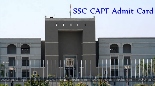 SSC CAPF Admit Card