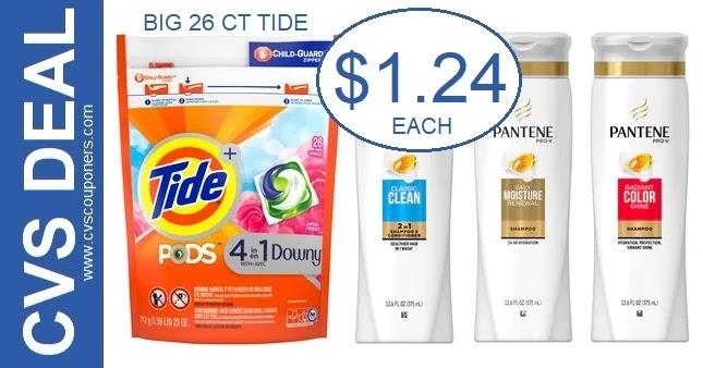 Big Bag of Tide Pods & Pantene Deal at CVS
