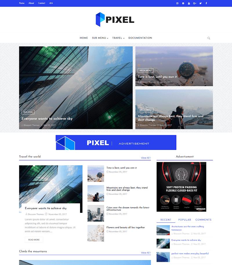 Blogger Tema - Pixel