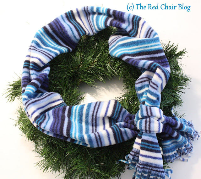 January wreath DIY tutorial The Red Chair Blog