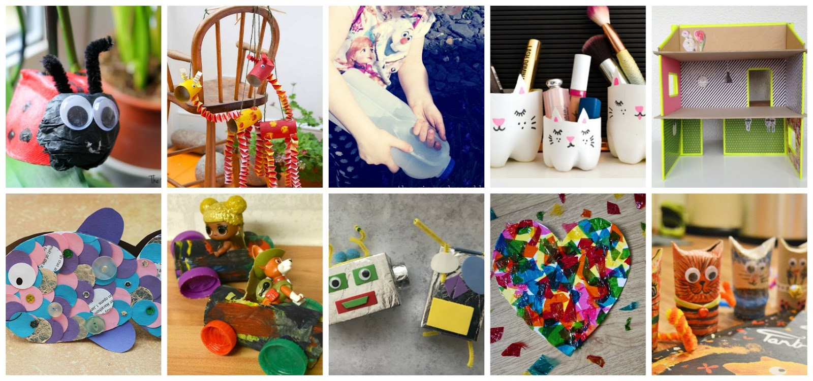 10 Fun Crafts For Kids Using Recycled Materials