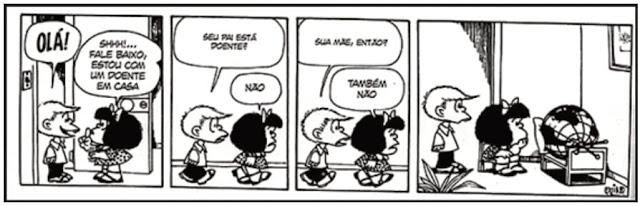 QUINO. 10 anos com Mafalda. Tradução de Monica Stahel. São Paulo: Editora Martins Fontes, 2010, p. 68.