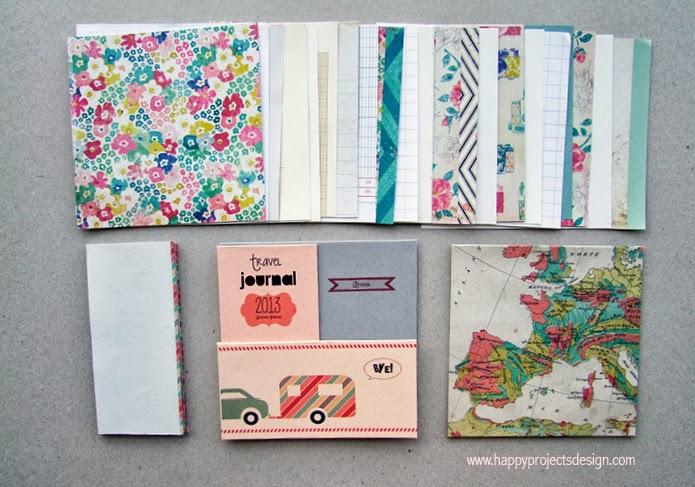 DIY Cuaderno de viaje: Papeles utilizados