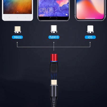Cabluri de incarcare si de date, multiple capete, la priza si magnetice