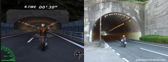 Tunnel entrance in the game vs real life.