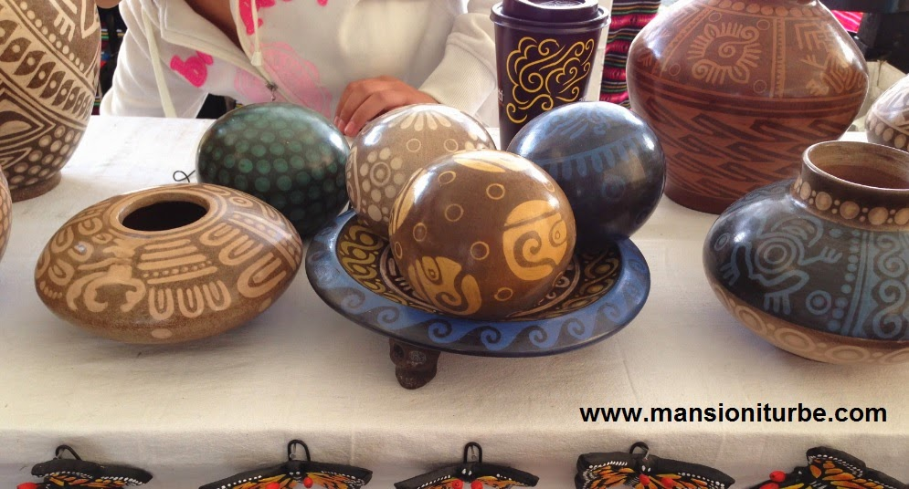 Mexican folk arts and crafts at the Artisan Market in Patzcuaro