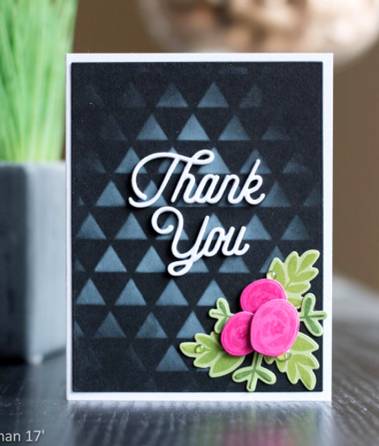 Mini Modern Blooms stamp set and Die-namics and Twice the Thanks Die-namics - Koren Wiskman #mftstamps