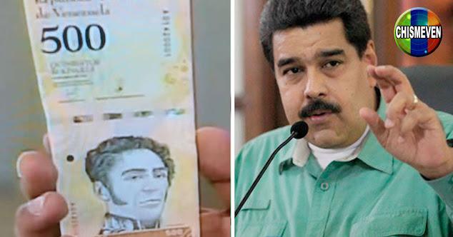 Régimen de maduro estudia quitarle 5 ceros más al Bolívar en el 2021