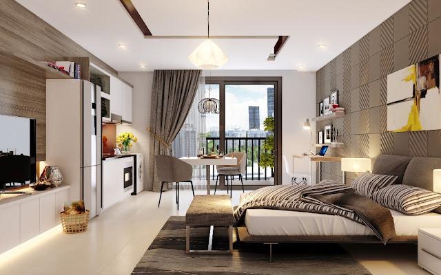thiết kế căn hộ chung cư samsora premier