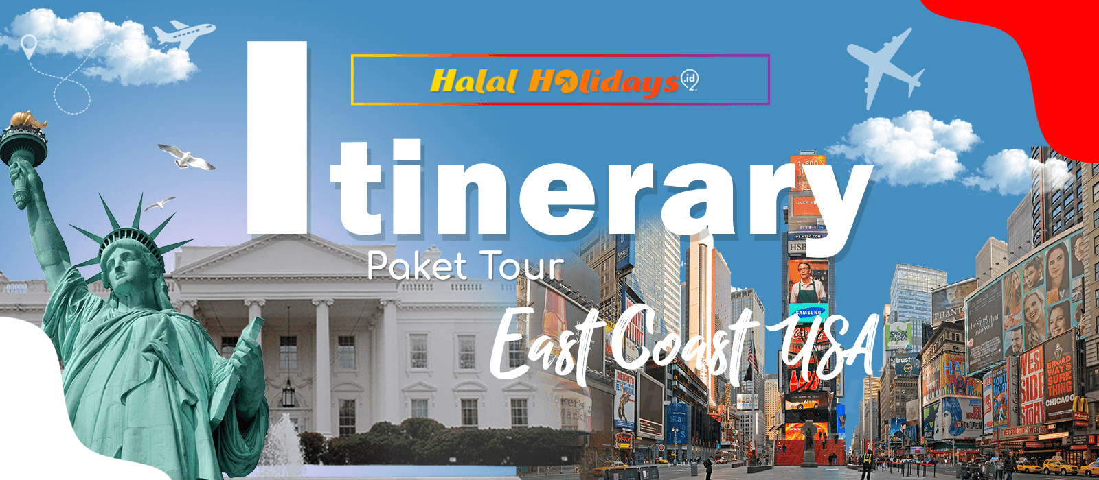 Itinerary Paket Tour Halal Amerika East Coast USA 10 Hari