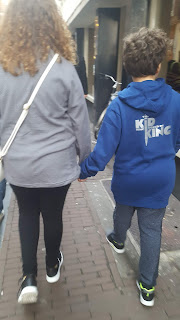 Top Ender and Dan Jon walking around Amsterdam