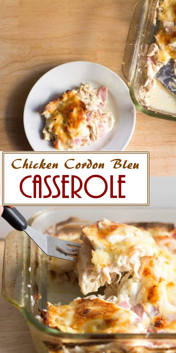 Chicken Cordon Bleu Casserole – Low Carb,Keto #ketorecipes