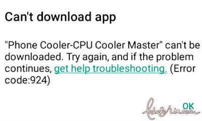 """Error code 924: """"Can't download app"""""""