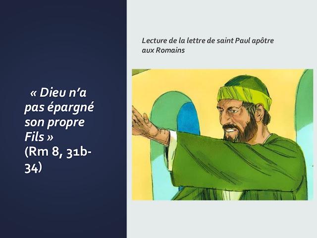 """Lettre de Paul : diaporama - """"Dieu n'a pas épargné son propre Fils"""""""