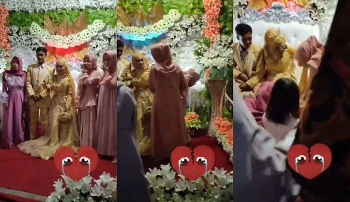 Detik-detik wanita pingsan saat diduga datang ke pernikahan mantan. Tangkap layar Instagram @lambe_turah
