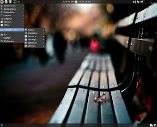 LXLE OS Desktop with main menu