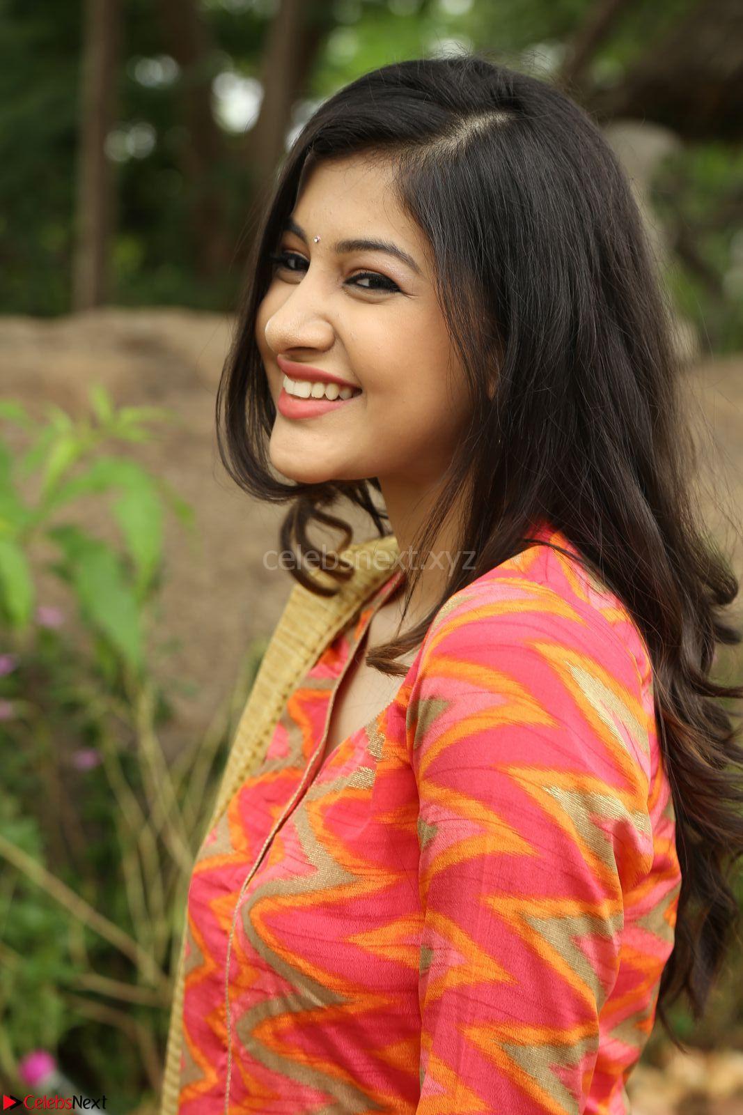 simran sharma new cute actress in orange salwar suit at ego movie
