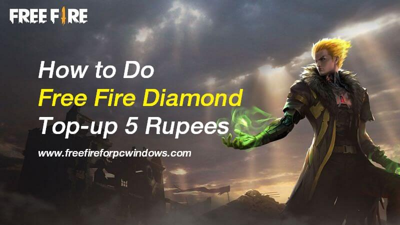 Free Fire Diamond Top-up 5 Rupees